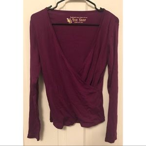 NWOT Victoria's Secret Purple Wrap Top OS